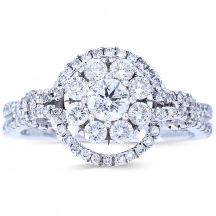 WLR611W   Halo Rings   Payroll Jewelry