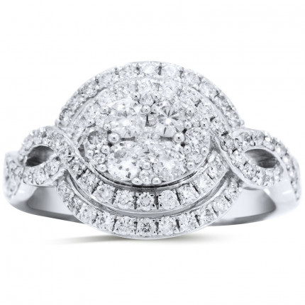 WLR71528W   Halo Ladies Engagement Ring   Payroll Jewelry