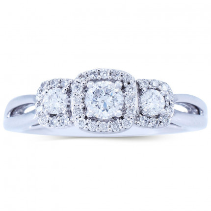 WLR803170W | Halo Rings | Payroll Jewelry