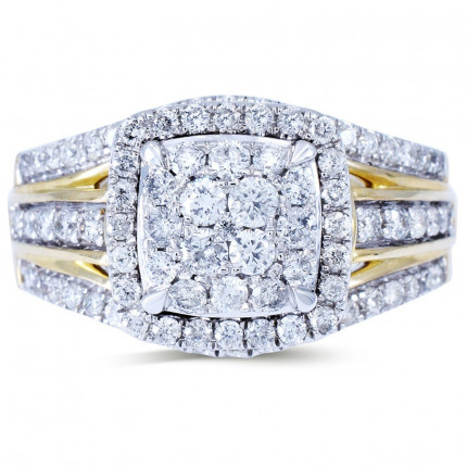 WLR804033Y   Halo Rings   Payroll Jewelry