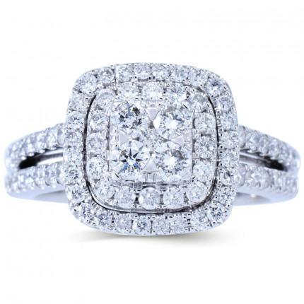 WLR804423W   Halo Rings   Payroll Jewelry
