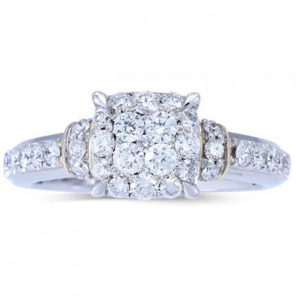 WLR804645W   Halo Rings   Payroll Jewelry