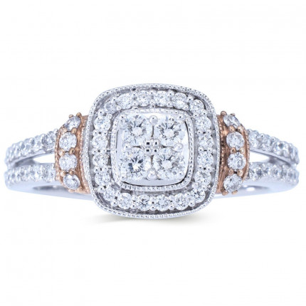 WLR805121W | Halo Rings | Payroll Jewelry