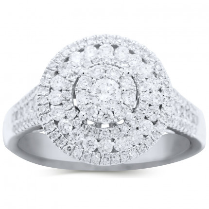 WLR90446W   Halo Engagement Ring   Payroll Jewelry