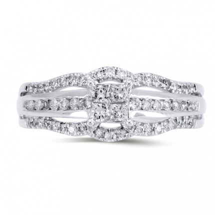 WS10135W | Side Stone Engagement Ring | Payroll Jewelry