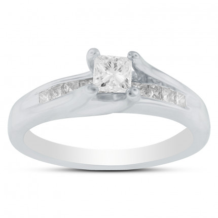 WS10333W   Side Stone Engagement Ring   Payroll Jewelry