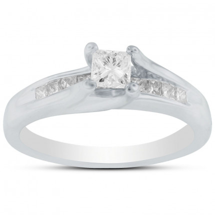 WS10333W | Side Stone Engagement Ring | Payroll Jewelry