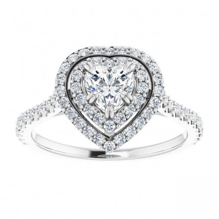 WS122087HS | Halo Engagement Ring | Payroll Jewelry