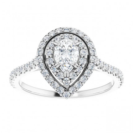 WS122087PSW | Payroll Jewelry | Halo Engagement Ring