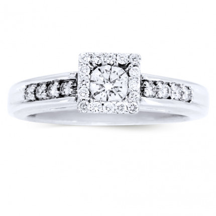 WS16277W | Halo Engagement Ring | Payroll Jewelry