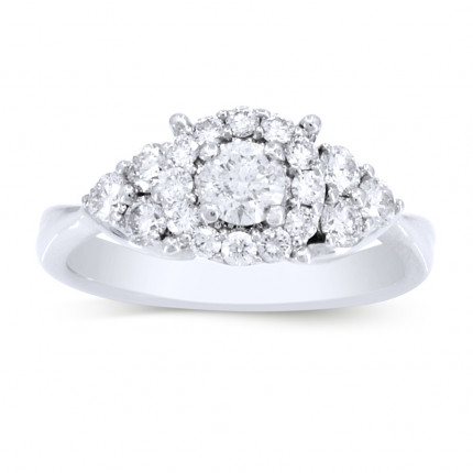 WS18453W | Halo Engagement Ring | Payroll Jewelry