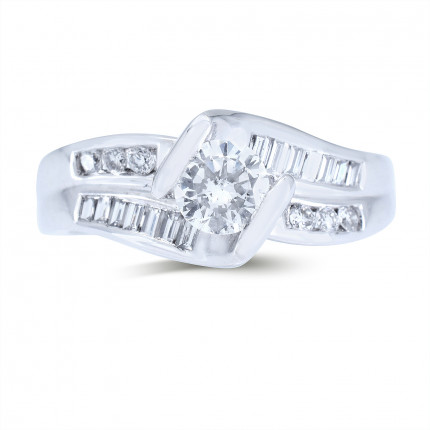 WS20363W | Side Stone Engagement Ring | Payroll Jewelry