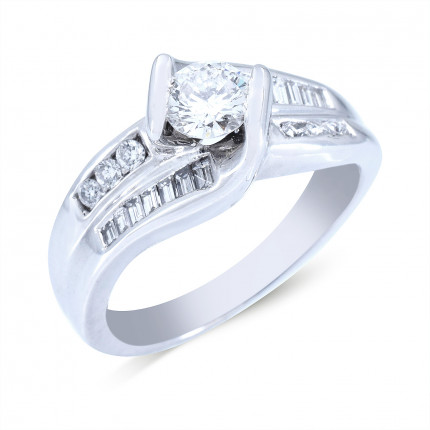 WS20363W   Side Stone Engagement Ring   Payroll Jewelry