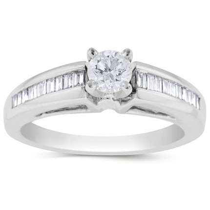 WS20425W | Side Stone Engagement | Payroll Jewelry