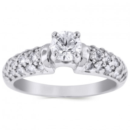 WS28565W   Side Stone Engagement Ring   Payroll Jewelry
