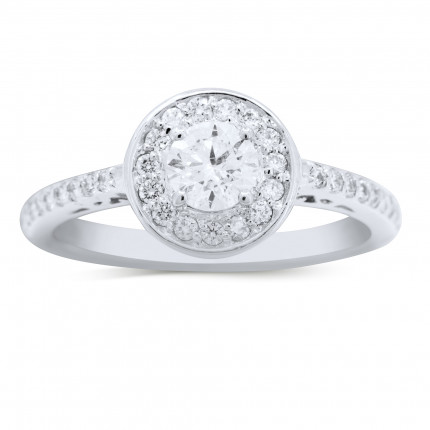 WS34381W | Halo Engagement Ring | Payroll Jewelry