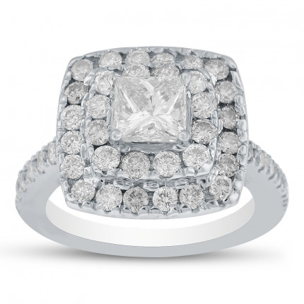 WS48765W | Halo Engagement Ring | Payroll Jewelry