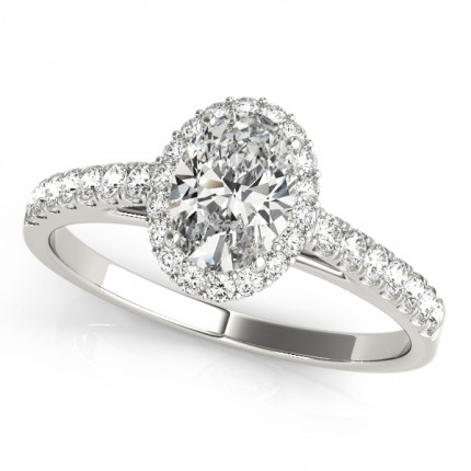 WS50917W-3/8 CT | Halo Engagement Ring. | Payroll Jewelry