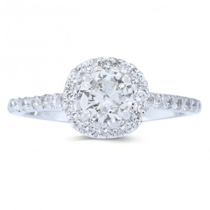 WS511W   Halo Rings   Payroll Jewelry