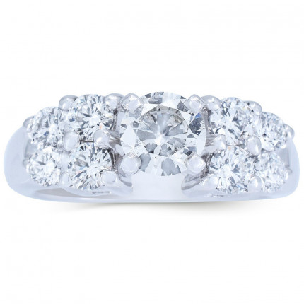 WS81266W   Side Stone Engagement Ring   Payroll Jewelry