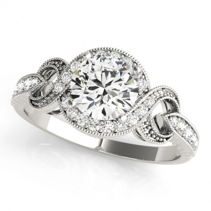 WS84639W | Halo Engagement Ring. | Payroll Jewelry