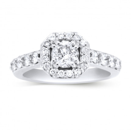 WS88060W | Halo Engagement Ring | Payroll Jewelry