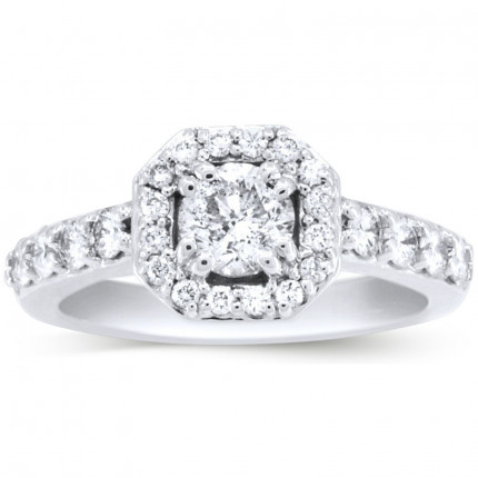WS88060W   Halo Engagement Ring   Payroll Jewelry