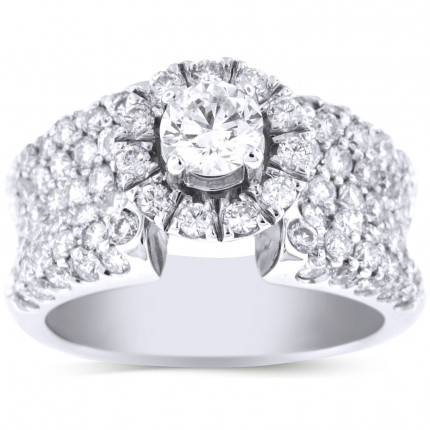 WS941202W   Halo Engagement Ring   Payroll Jewelry