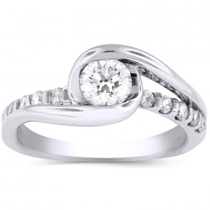 WS9415W | Side Stone Engagement Ring | Payroll Jewelry
