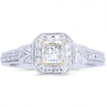 WS94622W   Halo Engagement Ring   Payroll Jewelry