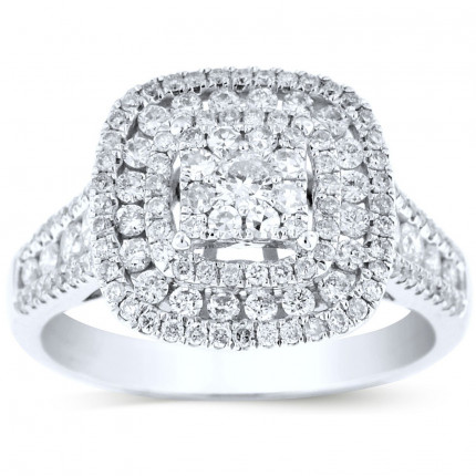WSF112445W   Halo Engagement Ring   Payroll Jewelry