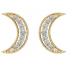 ER61922Y | Crescent Moon Earrings | Payroll Jewelry